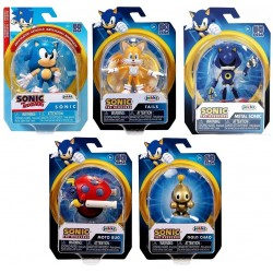 "Sonic the Hedgehog 2.5"" Figure Assortment (12ct) RRP £5.99"