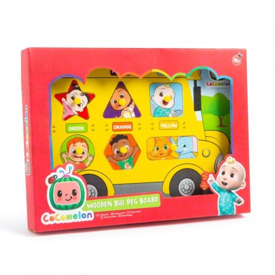 CoComelon Wooden Bus Peg Board (12ct) RRP £4.99