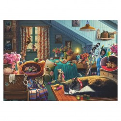 Cats in the Attic Jigsaw (500Piece) RRP £7.99