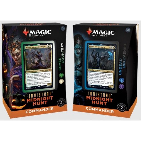 Magic the Gathering Innistrad Midnight Hunt Commander Decks (4ct) RRP £39.99