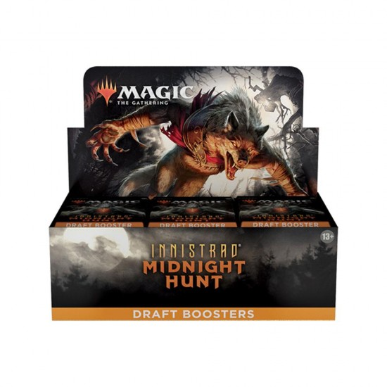 Magic The Gathering Innistrad Midnight Hunt Draft Boosters (36ct) RRP £4.99