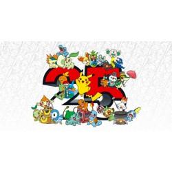 "Pokemon 25th Celebration  8"" Assorted Plush (6ct) RRP £14.99 - August 2021"