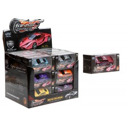 """Die-cast 3"""" Top Speed Super Cars (24ct) RRP £1.25"""