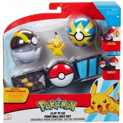 Pokemon Clip 'n' Go Poke Ball Belt - Pikachu (4ct) RRP £19.99
