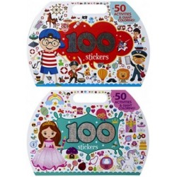 Activity Booklets with 100 Stickers - 2 Assorted (24ct) RRP £1.99