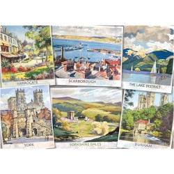 Holiday Postcards 'The Beautiful North Jigsaw RRP £12.99