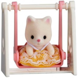 Baby Carry Case (Cat on Swing) (SYL65201) RRP £7.99 Bricks & Mortar ONLY
