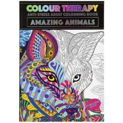Colour Therapy Book - Amazing Animals (48 pages) RRP £1.99