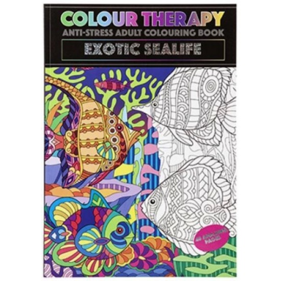 Colour Therapy Book - Exotic Sealife (48 pages) RRP £1.99