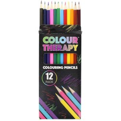 Colour Therapy 12-piece Colouring Pencils (24ct) RRP £1.49