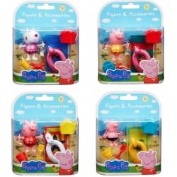 Peppa Pig Figures - Beach Theme (4 Assorted) (12ct) RRP £4.99