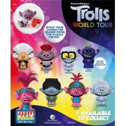 Trolls World Tour 3D Puzzle Eraser (24ct) RRP £1.99